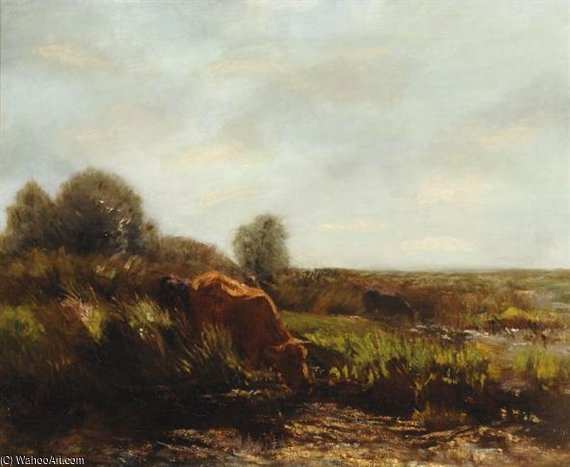 Cows In The Summer Sun by Willem Maris (1844-1910, Netherlands) | Reproductions Willem Maris | WahooArt.com