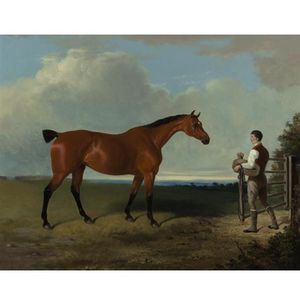 William Barraud - Landscape With Hunter And Groom