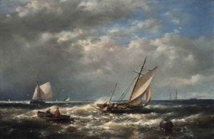 Abraham Hulk Senior - A Breezy Day At The Mouth Of The Scheldt