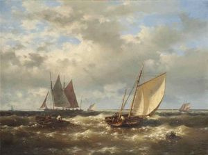 Abraham Hulk Senior - A Stiff Breeze On The Scheldt