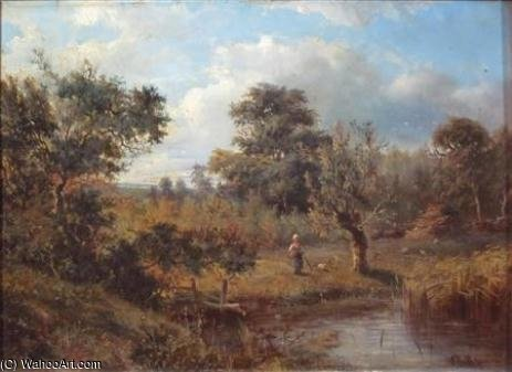 In The Water Meadows by Abraham Hulk Senior (1813-1897, Netherlands)