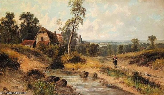 Near... Surrey by Abraham Hulk Senior (1813-1897, Netherlands) | Art Reproduction | WahooArt.com