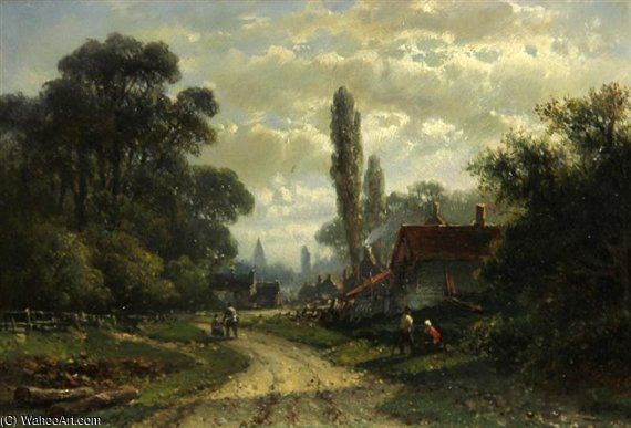 On The Outskirts Of A Dutch Town by Abraham Hulk Senior (1813-1897, Netherlands) | WahooArt.com