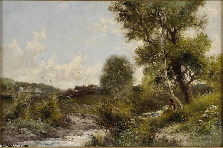 Summer Landscape by Abraham Hulk Senior (1813-1897, Netherlands) | Museum Quality Reproductions | WahooArt.com