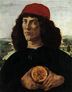 Sandro Botticelli - Portrait Of A Man With A Medal Of Cosimo The Elder