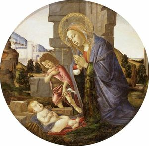 Sandro Botticelli - Virgin Adoring The Child With The Young Saint John
