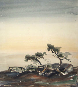 Alfred Heber Hutty - Trees By The Sea
