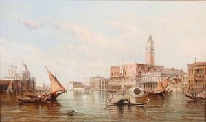 Alfred Pollentine - The Entrance To The Grand Canal, Venice