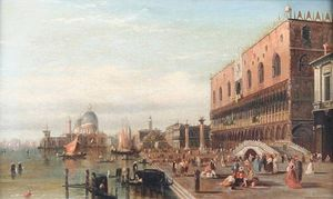 Alfred Pollentine - View Of The Grand Canal, Venice With The Doge's Palace And Santa Maria Della Salute