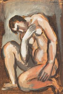 Armand Schonberger - Sitting Nude