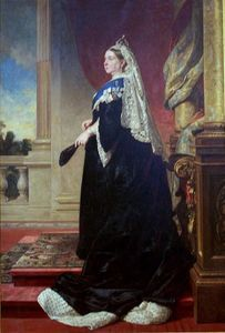 Baron Heinrich Von Angeli - Portrait Of Victoria Of The United Kingdomqueen Victoria As Widow