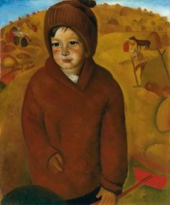 Boris Dmitrievich Grigoriev - Boy At Harvest Time