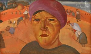 Boris Dmitrievich Grigoriev - Russian Peasant Woman