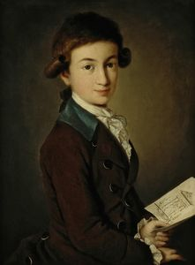 Carl Ludwig Johann Christineck - Portrait Of A Boy
