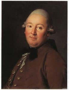 Carl Ludwig Johann Christineck - Portrait Of An Unknown Man In A Brown Coat