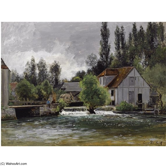 The Watermill by Cesar De Cock (1823-1904, Belgium) | Paintings Reproductions Cesar De Cock | WahooArt.com
