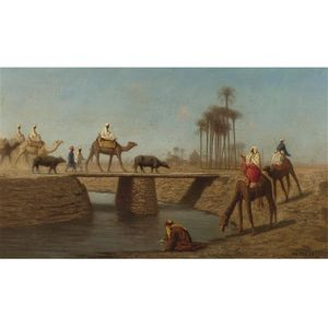Charles Théodore Frère (Bey) - A Bridge, High Egypt