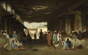 Charles Théodore Frère (Bey) - A North African Market
