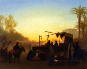 Charles Théodore Frère (Bey) - Cairo Market