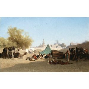 Charles Théodore Frère (Bey) - Campement Bedouin Au Caire