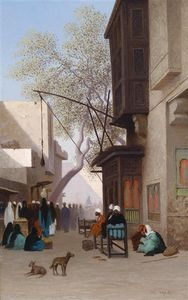 Charles Théodore Frère (Bey) - Oriental Street Scene