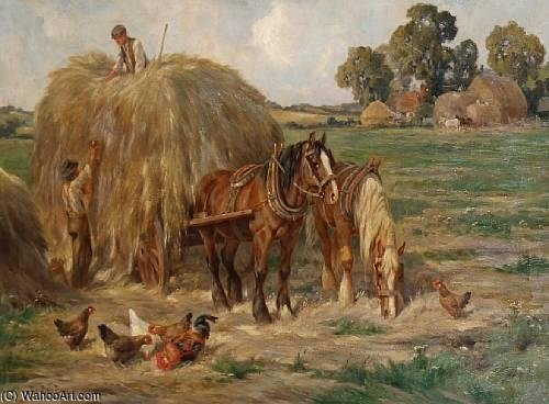 Haymaking by Claude Cardon (1892-1915, France) | WahooArt.com