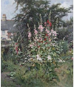 Claude Cardon - Hollyhocks