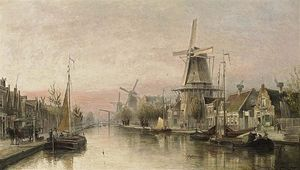 Cornelis Christiaan Dommelshuizen - A View Of The Overtoom, Amsterdam