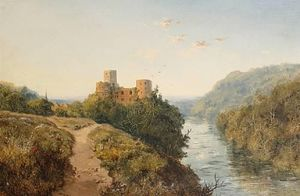 Edmund John Niemann - Goodrich Castle On The River Wye