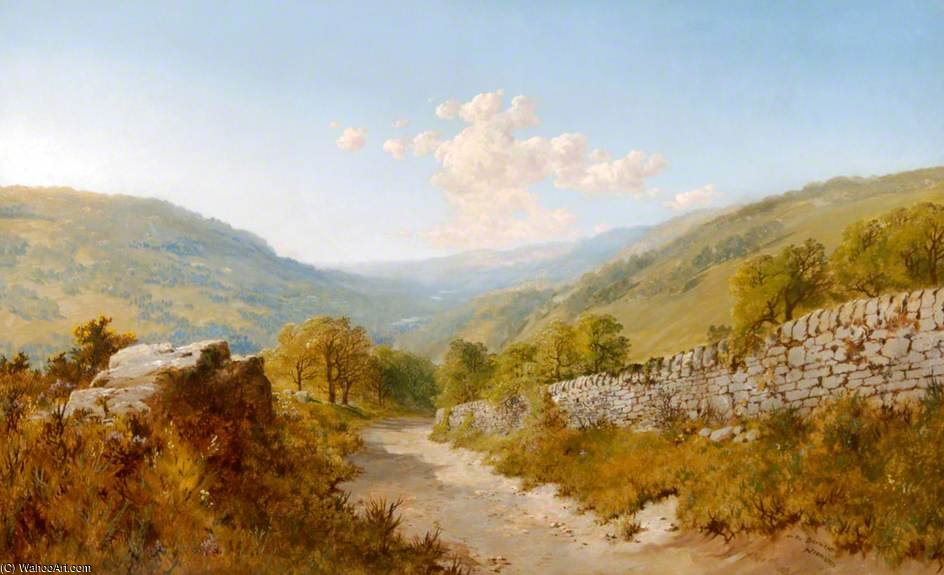Order Famous Paintings Reproductions : On The Derwent by Edmund John Niemann (1813-1876, United Kingdom) | WahooArt.com