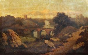 Order Art Reproduction : Richmond Castle, Yorkshire by Edmund John Niemann (1813-1876, United Kingdom) | WahooArt.com