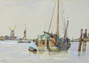 George Stanfield Walters - Fishing Boats