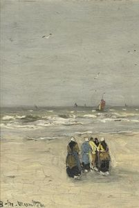Gerhard Arij Ludwig Morgenstje Munthe - Women At The Beach