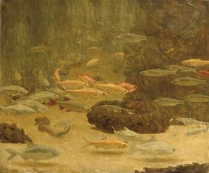 Gerrit Willem Dijsselhof - A Shoal Of Goldfish
