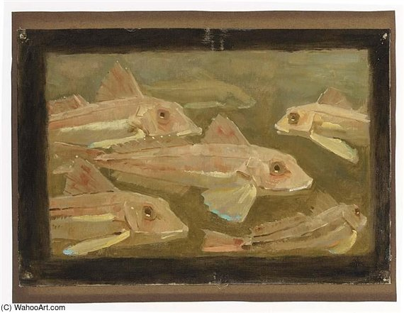 Order Reproductions | Carps by Gerrit Willem Dijsselhof (1866-1924, Netherlands) | WahooArt.com