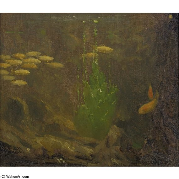 Under The Sea by Gerrit Willem Dijsselhof (1866-1924, Netherlands)
