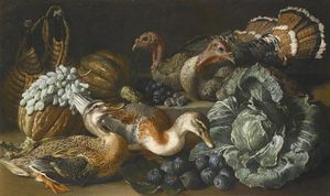 Jacob Van Der (Giacomo Da Castello) Kerckhoven - A Still Life Of Ducks, Turkeys