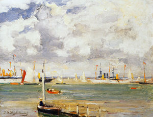 Johan Hendrik Weissenbruch - Ships In The Harbour
