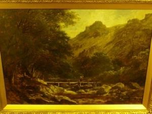 John Syer - A Welsh Mountain Stream