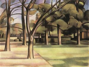 Janos Kmetty - Trees (view Of The City Garden)