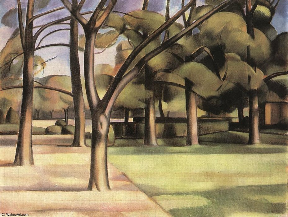 Trees (view Of The City Garden) by Janos Kmetty (1889-1975, Hungary)