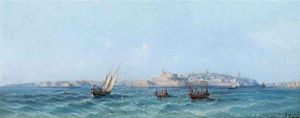 Luigi Maria Galea - Fishing Before Valetta