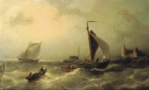 Nicolaas Riegen - Heading For Shore Near The Muiderslot