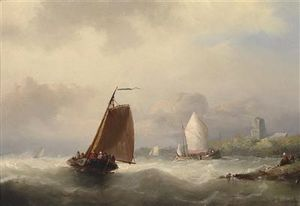 Nicolaas Riegen - Sailing Boats By The Coast