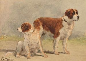 Otto Eerelman - Two Saint Bernard Dogs