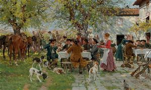 Raffaelo Sorbi - The Huntsmen-s Lunch