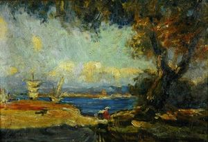 Raffaelo Sorbi - View Across A Bay