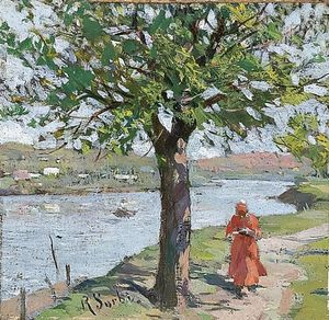 Raffaelo Sorbi - Walking By The River