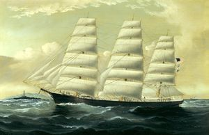 William H Yorke - American Downeaster Florence Off The Skerries