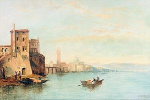 William Meadows - The Lagoon At Venice